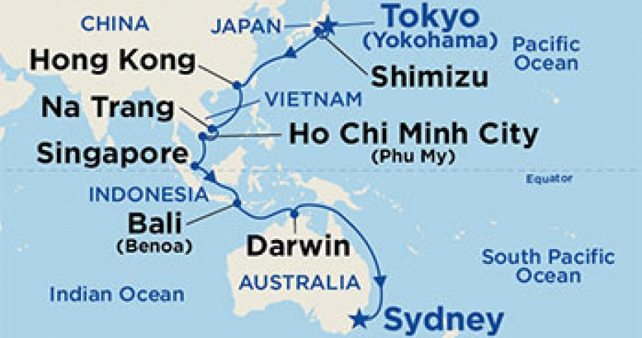 Map of destination