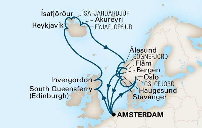 Uk Iceland And Norway Phil Hoffmann Travel - Norway map uk